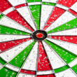 Hit red & green bullseye dart board target game — Stock Photo