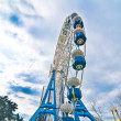 Big ferris wheel in the lunapark — Stock Photo