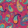 Paisley elements seamless pattern — Stock Vector