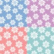 Set of flowers seamless patterns — Stock Vector #10408680