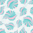 Stock Vector: Seashells seamless pattern