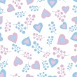 Romantic seamless pattern — Stock Vector
