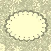 Tarjeta de felicitación floral — Vector de stock
