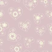 Modèle seamless floral romantique — Vecteur