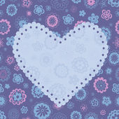 Romantic greeting card — Stock Vector