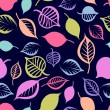 Seamless pattern with  hand drawn leaves — Imagen vectorial