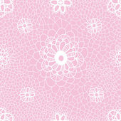 Romantic floral lacy seamless pattern — Stock Vector