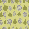 Hand painted leaves seamless pattern — Stock Vector