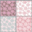 Stock Vector: Floral seamless patterns collection