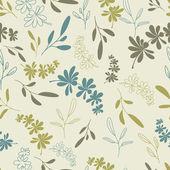 Green twigs seamless pattern — Stock Vector