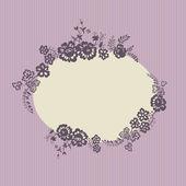 Retro floral vignette — Stock Vector