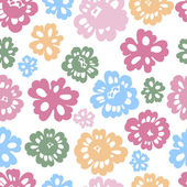 Sping flowers seamless pattern — Stock Vector