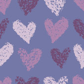 Lilac hearts seamless pattern — Stock Vector
