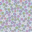 Stock Vector: Spring flowers seamless pattern