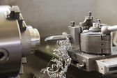 Cnc lathe metal milling machine — Stock Photo