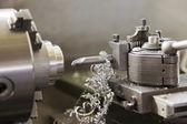 Cnc lathe metal milling machine — Stock Photo