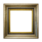Precious old golden vintage picture frame — Stock Photo