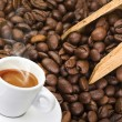Coffee smoked — Stockfoto