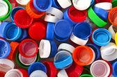 Tampas plásticas coloridas — Foto Stock