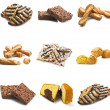 Collage of various biscuit — Stock Photo