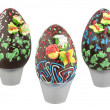Chocolate easter eggs — Stockfoto