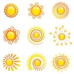 Sun symbol — Stock Vector