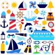 Nautical icon — Stock Vector