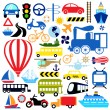 Vehicles icon - Stock Vector