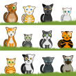 Cartoon cat set — Stock Vector