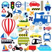 значок транспортных средств — Cтоковый вектор