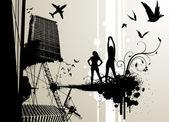 городской город — Cтоковый вектор