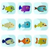 Cartoon Fisch — Stockvektor