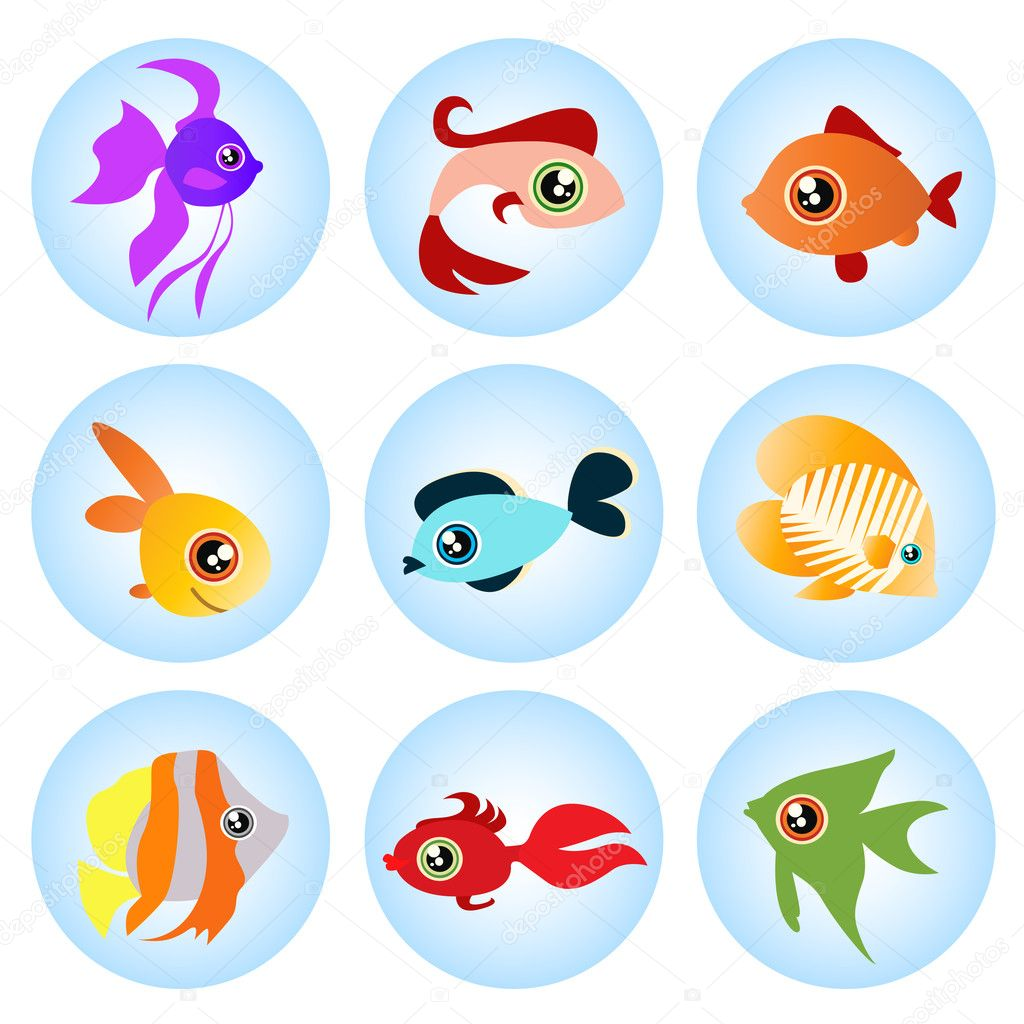 Cartoon fish set vector  Stock Vector #8014531