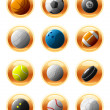 Stock Vector: Sport ball icons