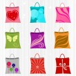 Shopping bag set — Stock Vector #8310798