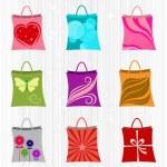 Shopping bag set — Stock Vector