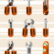 Work tools — Stock Vector