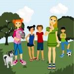 Cartoon kids — Stock Vector #8310943