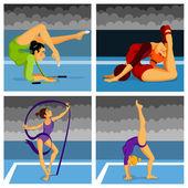 Athletics set — Stock Vector