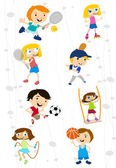 Cartoon sport kids — Stock Vector