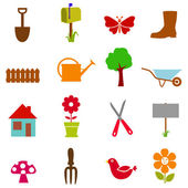 Garden icon set — Stock Vector