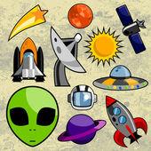 Space design elements — Stock Vector