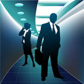 Business peoples — Stock Vector