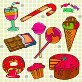 Sweet set — Stock Vector