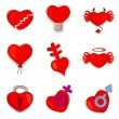 Hearts set — Stock Vector