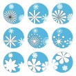 Floral icons — Stock Vector