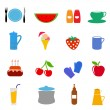 Food drink icons — Stock Vector #8461188