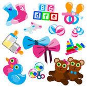 Baby toys — Stock Vector