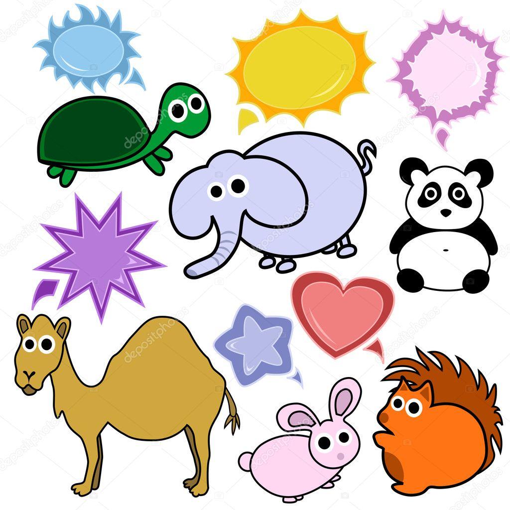 简单可爱的动物画像