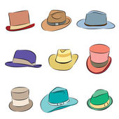 Men Hats — Stock Vector